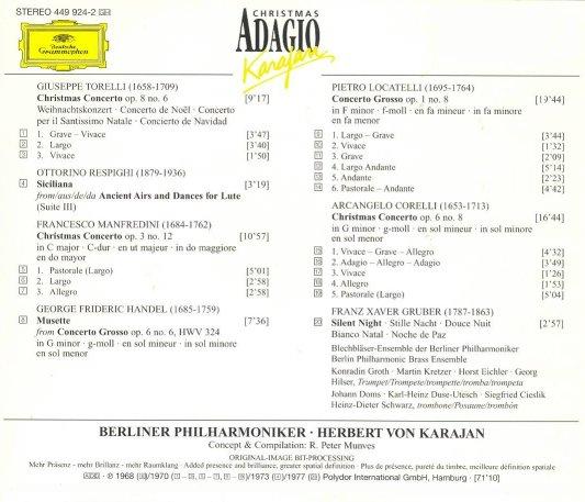 KarajanChristmas Adagio-back