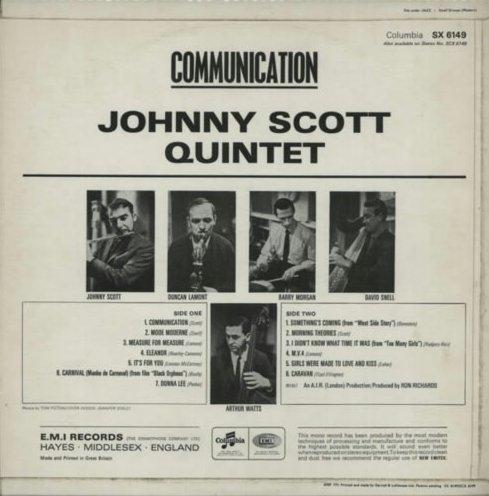 Duncan Lamont - Johnny Hawkins John Hawkins Four Seasons - Country Life