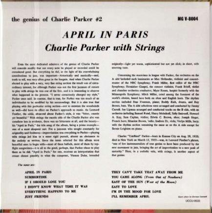 CharlieParkerAprilInParisBC