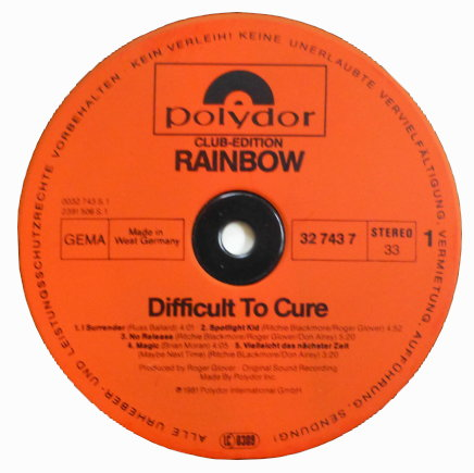 Rainbow – Difficult To Cure (1981) | ManyFantasticColors