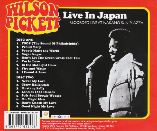 Wilson Pickett - Live In Japan - BackA
