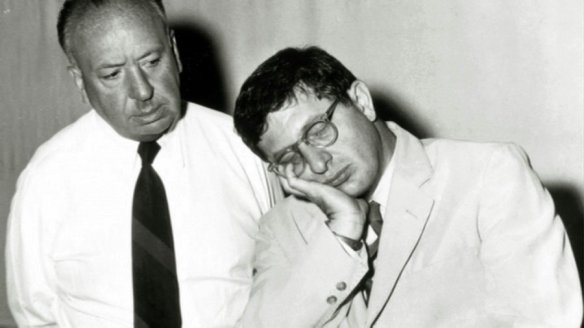 Alfred Hitchcock with Bernard Herrmann