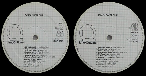 Labels from the re-release by Line Records (Germany)