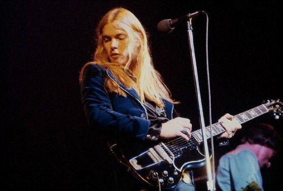 Gregg Allman Playing the Guitar