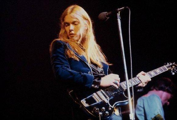 Gregg Allman Playing the Guitar
