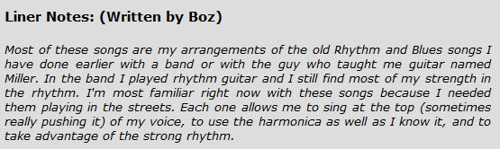 LinerNotes