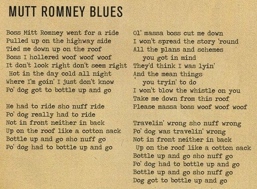 Mutt Romney Blues